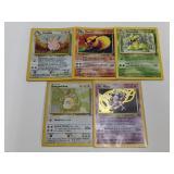 (5) Pokemon Jungle Rares W/ Holo BAD CONDITION