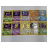 (10) Pokemon Fossil W/ Holo Cards BAD CONDITION