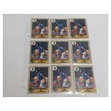 (18) Bo Jackson Baseball Rookie Cards