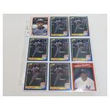 (18) Deion Sanders  Baseball Rookie Cards
