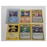 (6) Pokemon Rares & Shadowless Cards