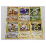 (6) Pokemon Base Set Rare Cards