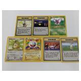 (7) Pokemon Base Set Two Rare Cards