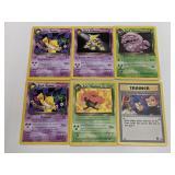(6) Pokemon Team Rocket Rare Cards