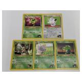 (5) Pokemon Gym Challenge/Heroes Cards