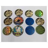 (12) Pokemon Coins W/ Holo