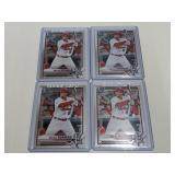 (4) 2021 Bowman Chrome Nolan Gorman Baseball Cards
