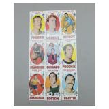 1969-70 Topps Basketball Group of 9