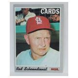 1970 Topps #346 Red Schoendienst