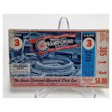 1967  World Series Game 3 Ticket