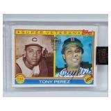 22/30 1983 Topps Signature Series Tony Perez Auto