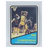 1969 Topps NBA Championship Lakers/Knicks #159