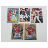Five St Louis Cardinals Baseball Cards