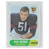 1968 Topps Football - #127 - Dick Butkus