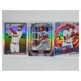 Three Dylan Carlson Baseball Cards