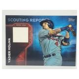 2016 Topps Scouting Report Yadier Molina Relic