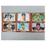 1955 Bowman 6 Card Lot with - HOF