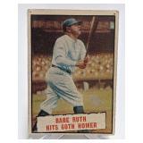1961 Topps Babe Ruth Hits 60th Homer #401