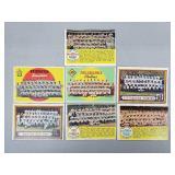 1957 - 59 Topps - 7 Card Team Lot