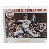 1964 Topps Koufax Strikes Out 15 #136