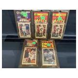 (5) 1991 Upper Deck Football Card Packs W/ Stars
