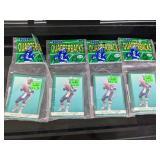 (4) 1991 Fleer Quarterbacks Football Card Packs