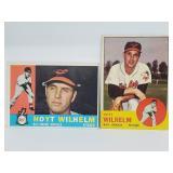 1960 Topps #395 & 1963 Topps #108 - Hoyt Wilhelm