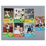 1963 Topps 7 Card Complete Set World Series Cards