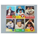 1963 Topps - 6 Card Lot