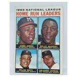 1964 Topps #9 - Home Run Leaders - Aaron/Mays