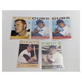 (5) 1964 Topps Baseball Cards