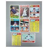 1965 Topps - 8 Card Lot - Checklist,WS, HOF