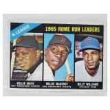 1966 Topps #217 - Home Run Leaders - Willie Mays