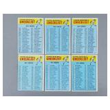 1966 Topps - 6 Checklist No Dups Unmarked