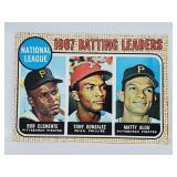 1968 Topps #1 Leader Card - Roberto Clemente