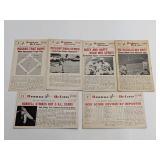 (6) Baseball Hi-Lites Cards Babe Ruth Dizzy Dean