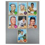 1968 Topps - 7 Card HOF/Star Pitchers Lot