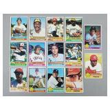 1976 Topps - 14 Card Lot HOF & Stars