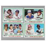 1978 Topps - 4 Card Lot of Leader Cards - (Ryan)