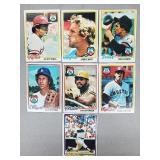 1978 Topps - 7 Card All Star Lot Brett, Bench, etc