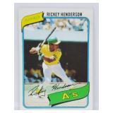 1980 Topps # 482 Rickey Henderson Rookie Card