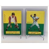 Vintage Dick Groat & Ken Boyer Folding Cards