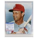 Stan Musial Signed 8x10 Photo W/ PSA