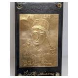 22K Gold Foil Ted Williams Card