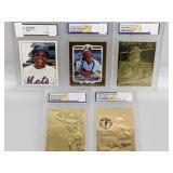 Slabbed Gold Foil Cards W/ Bonus Mays