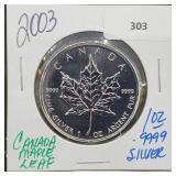 2003 1oz .999 Silver Canada Maple Leaf