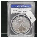 PCGS 2011-W MS69 1oz .999 Silver Eagle $1 Dollar