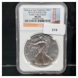 NGC 2011-S MS69 1oz .999 Silver Eagle $1 Dollar
