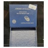 Empty American Eagle 1oz Silver Proof Box