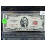 1953 Red Seal $2 Dollar Bill